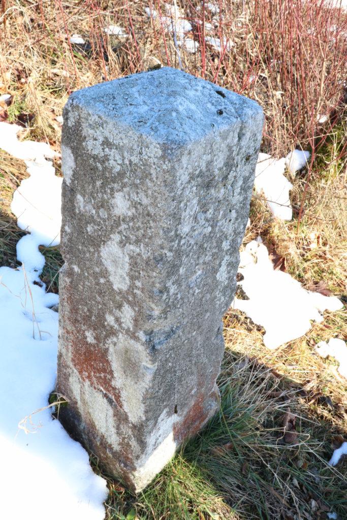 Kilometerstein 59 in Reith, Gemeinde Annaberg, 2.1.2020