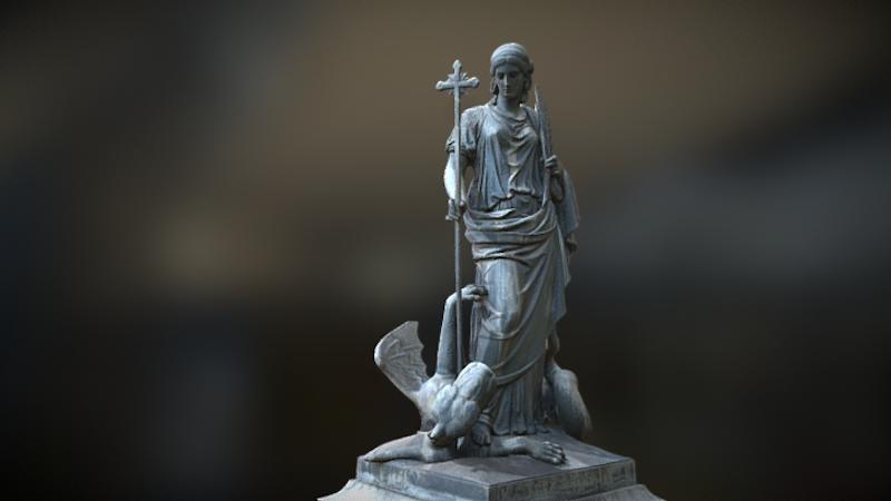 Fountain of St. Margaret, 3D model thumbnail