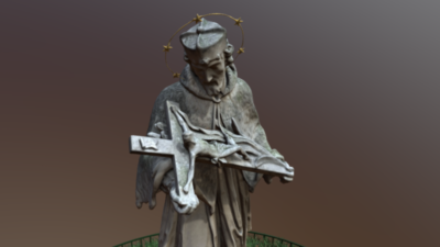 St. John of Nepomuk, 3D model thumbnail
