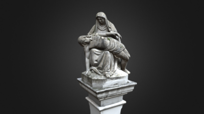 Wayside Shrine with Pietà, 3D model thumbnail