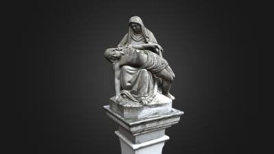 Wayside Shrine with Pietà, 3D model thumbnail